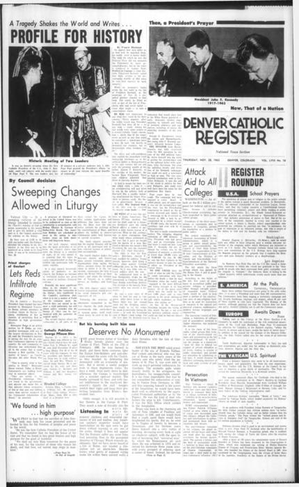 Supplement to the Denver Catholic Register
