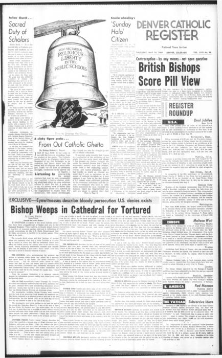 National news supplement to the Denver Catholic Register