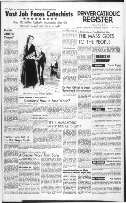 National News section of the Denver Catholic Register