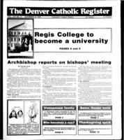 Denver Catholic Register November 21, 1990